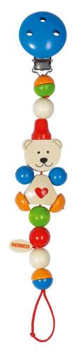 ガラガラホルダー ドイツ製 無料 安心安全 チェーンクリップハートベア 人気海外一番 ベビー向けおもちゃ