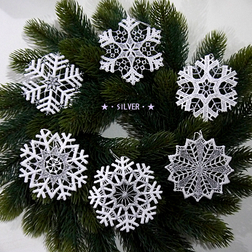 Crystal Christmas Ornaments.A Race Ornament Made In German Gerber Company Snowy Crystal Snow Crystal Six Pieces Set Christmas On Christmas An Ornament