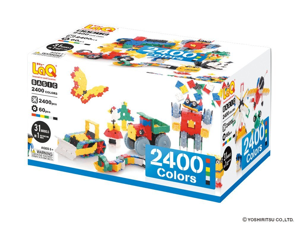 【知育玩具】 LaQ ベーシック 2400 カラーズ