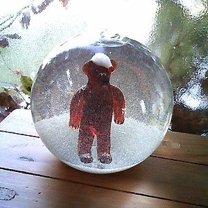 ★全品10倍&最大350円クーポン★【クリスマス用品】【Glas & Licht】ガラスのスノードーム【帽子のくま】