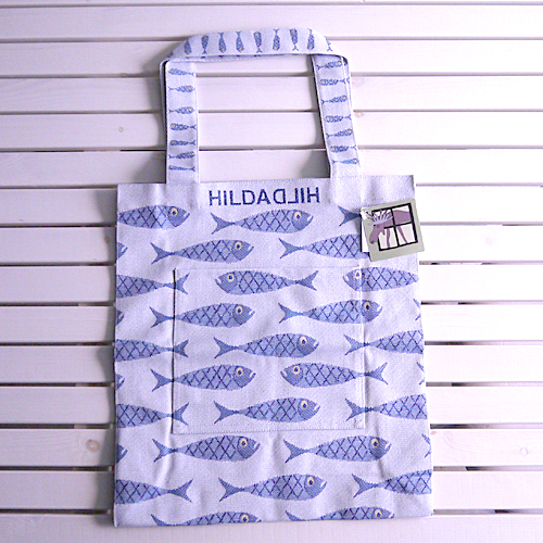 【HildaHilda Collection】ジャガード織トートバックLAC:フィッシュスウェーデン・ヒルダヒルダ正規輸入品あす楽対応・送料無料