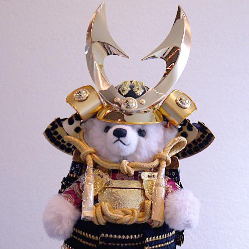 【Steiff:シュタイフ五月人形】限定入荷!鎧をまとったテディベア・サムライ【ハヤブサ】 端午の節句