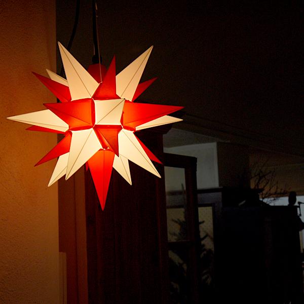 ★全品10倍&最大350円クーポン★【クリスマス用品・入荷しました!】40cmベツレヘムの星ライト:RED&WHITE[ Christmas:クリスマス ]