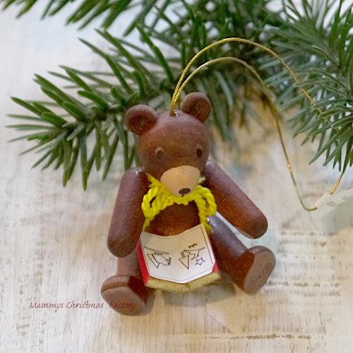 一生の宝物 好評 上質な木製オーナメント 休み クリスマス用品 リヒャルト オーナメント 本を読むテディベア グレーザー