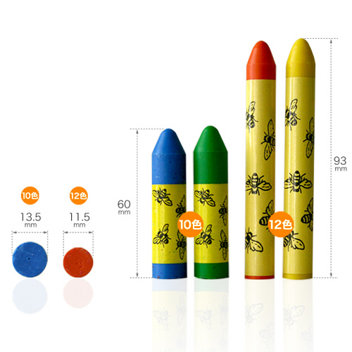 Put it in your mouth is a safe natural material. ( beeswax ) thick beeswax crayons 10 color wooden box with 10P01Sep13