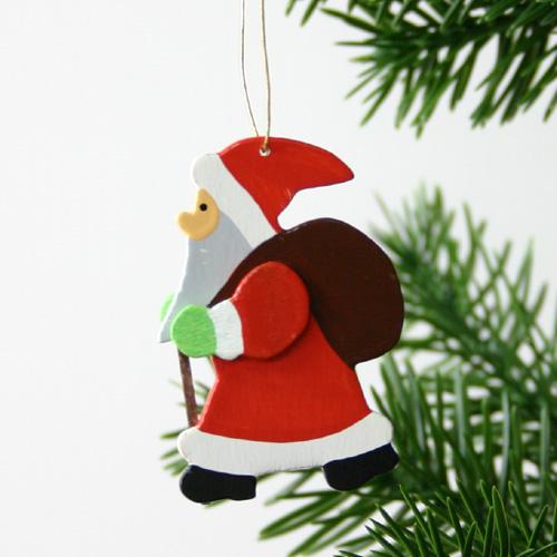 木製オーナメント クリスマスツリー クリスマス用品 9~10月入荷分ご予約 数量限定アウトレット最安価格 サンタオーナメント3個セット 祝開店大放出セール開催中