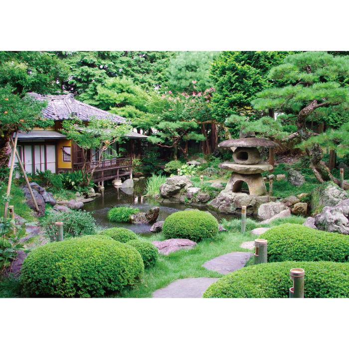 お風呂ポスター 日本庭園 B1(103×72.8cm) 長期固定タイプ(吸着素材)