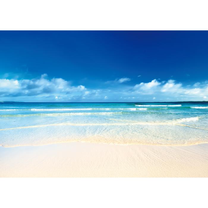 お風呂ポスター 南国の砂浜 B1(103×72.8cm) 長期固定タイプ(吸着素材)