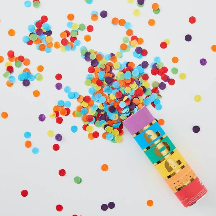 レインボーコンフェッティ キャノンシューター クラッカー キラキラ コンフェッティ 爆買い送料無料 カラフル スピード対応 全国送料無料 紙吹雪 誕生日 バースデー ウエディング おしゃれ Ginger Ray あす楽 パーティー 装飾 かわいい