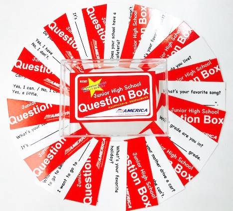 英語で質問カード 自然に英語で会話ができる オリジナルクエスチョンカード Helene Uchida リトル 安心の定価販売 アメリカ福岡 ジュニア ハイスクール High ボックス Box クエスチョン Junior Question 人気海外一番 英語教材 中学生にオススメ School