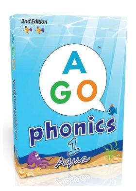 【小学生・中学生にオススメ 英語教材】エイゴ・フォニックス アクア 2nd Edition (Level 1) AGO Phonics Aqua 2nd Edition (Level 1)