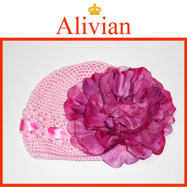 Alivian ピオニーフラワーハット / Pink n purple 【メール便不可】