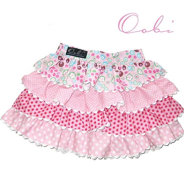 女の子 スカート 可愛い キッズ ベビー 80cm90cm95cm ネコポス送料無料 在庫限り OobiBaby 2-3Y Pink 70%OFFアウトレット ティアードスカート ピンク1-2Y Pinky 舗 assorted