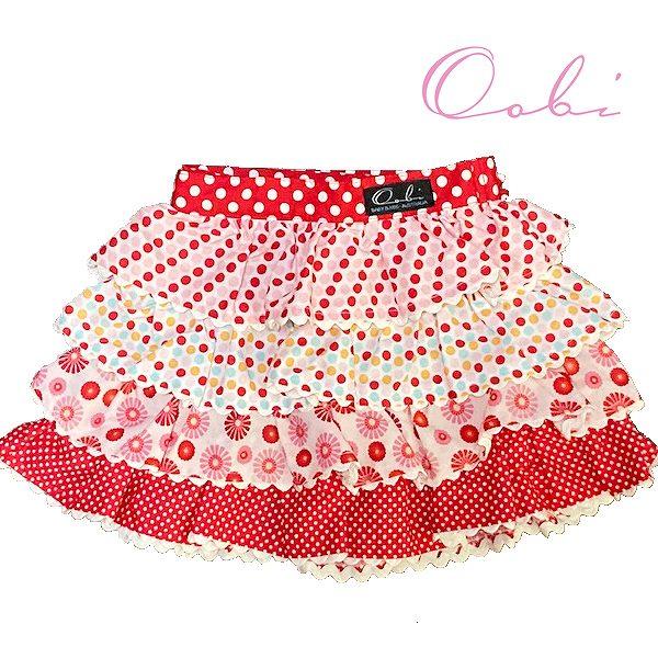 再再販 女の子 スカート 可愛い キッズ ベビー 80cm90cm100cm110cm 限定価格セール ネコポス送料無料 assortedティアードスカート 2-3Y レッド1-2Y Red 在庫限り OobiBaby