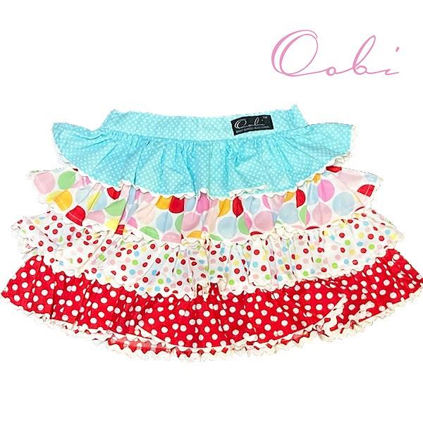女の子 スカート 可愛い キッズ 5☆大好評 商舗 80cm90cm100cm110cm ネコポス送料無料 ブルー3-4Y Blue OobiBaby 在庫限り assortedティアードスカート