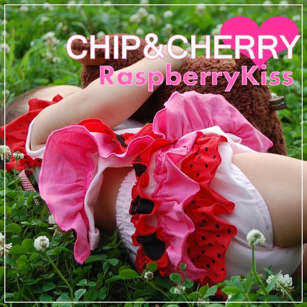 CHIPCHERRY フリフリブルマー Raspberry Kiss S 《週末限定タイムセール》 お気に入 メール便OK M