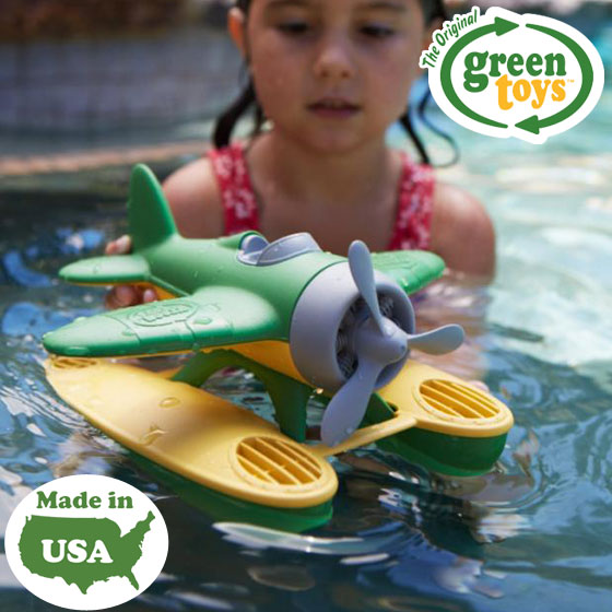 丸い形がかわいい 細かなパーツも少なく丈夫でプールやお風呂でも遊べる飛行機のおもちゃ おもちゃ 水遊び 飛行機 水上飛行機 飛行艇 誕生日 プレゼント ギフト 豊富な品 飛行機のおもちゃ グリーントイズ エコ シープレーン GreenToys かわいい 子供 輸入玩具 アメリカ製 アメリカ 超定番 グリーン おしゃれ