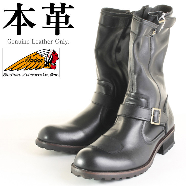 Long engineer boots man and woman combined use genuine leather Indian  motorcycle OIM-022 leather shoes genuine leather shoes genuine leather  boots