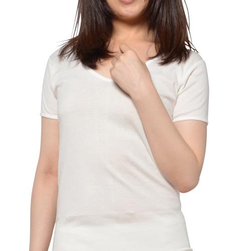 予約販売 日本で編みたてた生地を綿の風合いが残るように漂白したおすすめの綿肌着 ライブコットン無蛍光コットン肌着 毎日激安特売で 営業中です 婦人3分袖インナー