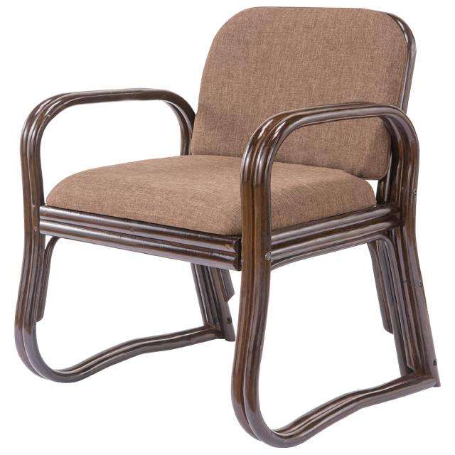 座椅子 肘掛け 肘付き 肘置き 立ち上がりやすい 和室用 ラタン 天然籐 茶色 和座イス 和座椅子 ブラウン ハイタイプ