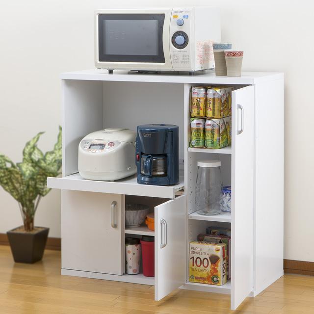 キッチン収納 キッチンラック レンジ台 炊飯器 収納 ラック レンジボード 炊飯器ラック カウンター収納