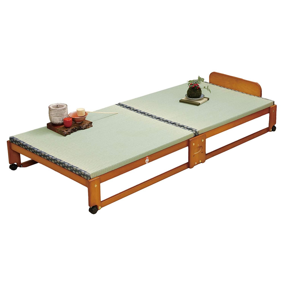 代金引換不可 中居木工 畳ベッド シングル らくらく折りたたみ式 畳 ベッド 日本製