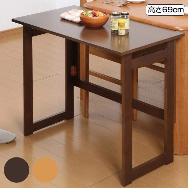 天然木折りたたみテーブル 幅80 長方形 コンパクト ナチュラル 木製補助テーブル 四角 サイドテーブル 作業台 ミニテーブル