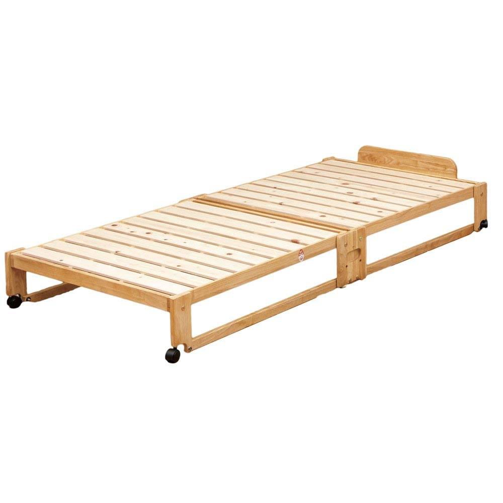 代金引換不可 日本製 すのこベッド 折りたたみ シングル 布団 湿気 らくらく折りたたみ式すのこベッド 桧 ひのき 中居木工 ベッド