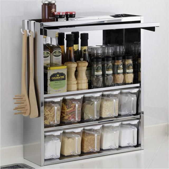 スパイスラック ステンレス 10杯 調味料ラック スリム 日本製 ステンレス製 おしゃれ 調味料 収納 キッチン収納 調味料入れ