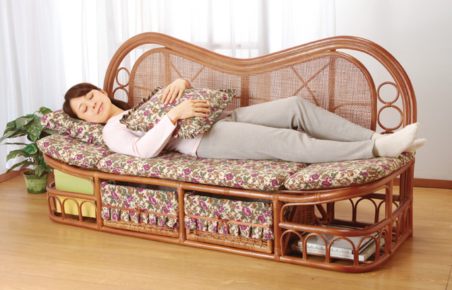 【YHC】ソファ 天然 籐 ラタン 籐製 ハイバック カウチソファ 幅160cm アジアン