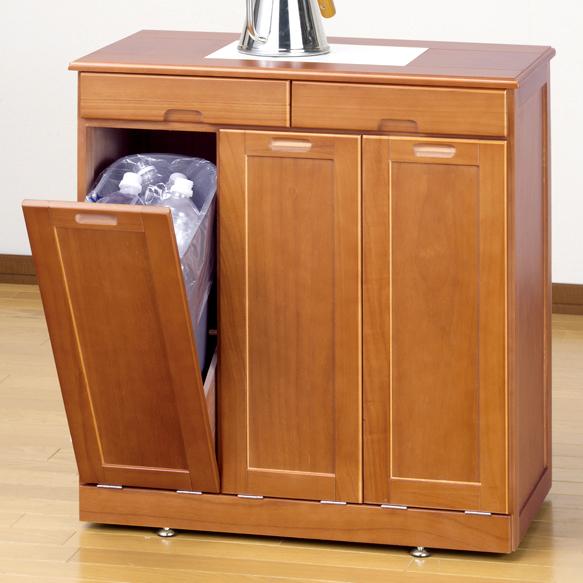 木製 ダストボックス カウンター 3分別 ゴミ箱 キッチン ペールカウンター タイル天板 ゴミ 分別 ペールボックス ダストボックス 天然木 ごみ箱 おしゃれ 白 ホワイト ブラウン ネームラベル おしゃれ キッチンカウンター