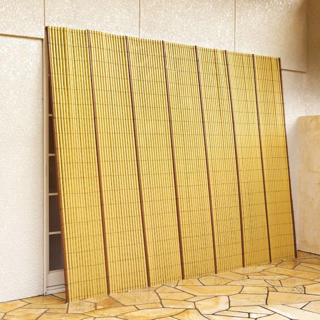 代金引換不可 竹垣風 たてす たてず よしず 約幅245×高さ184cm 樹脂製 完成品