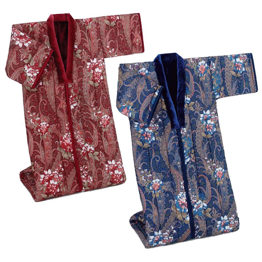 三層構造 かいまき布団 2色セット 暖か 衿までアクリルボア かいまき毛布 夜着 遠赤綿入り 掻巻 寝間着 あったかグッズ かいまき 掛け布団 あったか毛布 ペア プレゼント