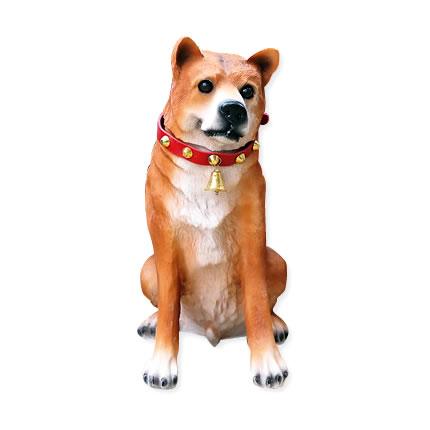お出迎えワンワン リキ 犬の置物 エクステリア センサー式 アニマルオブジェ ガーデニング 玄関 置物