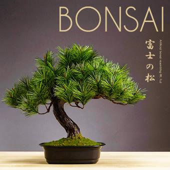 お手入れ不要 アレンジ盆栽 富士の松 人工植物 盆栽 人工 光触媒 フェイクグリーン 人工盆栽 フェイク盆栽