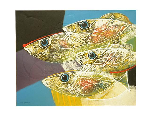 【マリンアート】インテリア絵画お魚のアート 送料無料