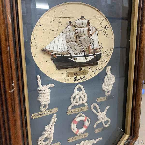 【アウトレット】マリン ロープワークのアンティーク掛け時計