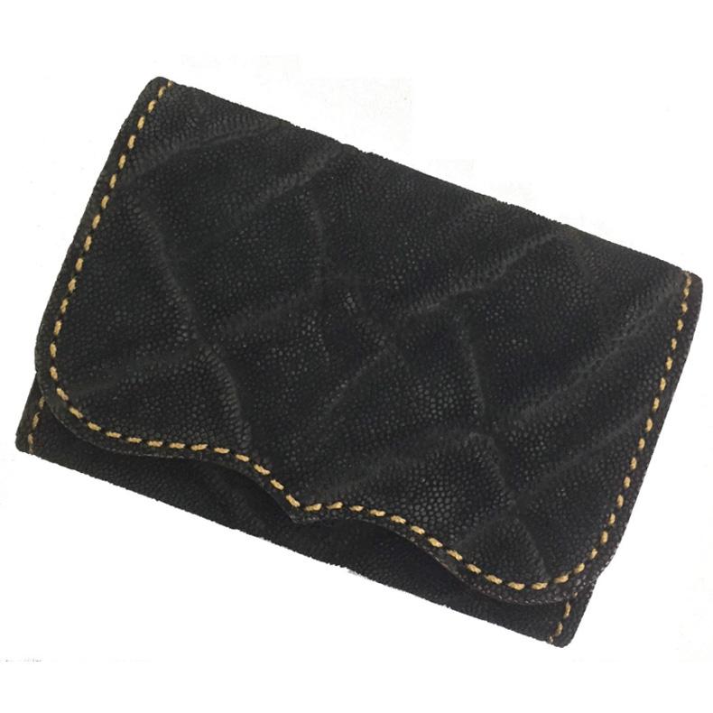大人気 KC,s ケイシイズ プレート カードケース コインケース KPC026B ウォレット ケーシーズ ケイシーズ 像革 ブラック