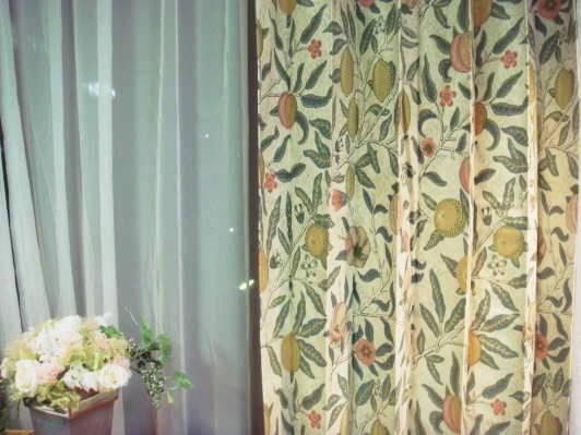 【送料無料】ウイリアムモリス/フルーツ1 オーダーカーテン W274cm