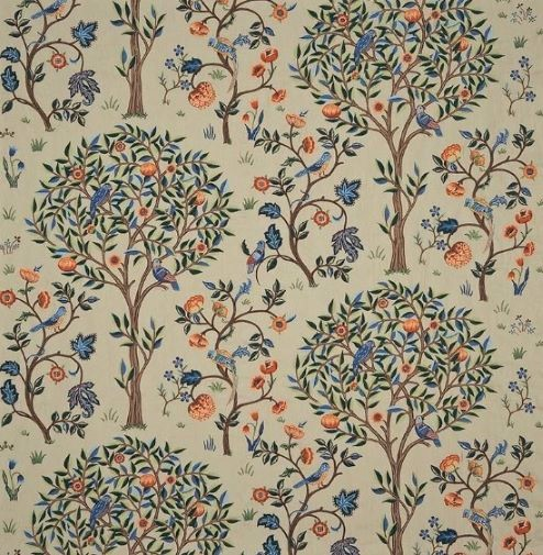 ウイリアムモリス William Morris カーテン生地 Kelmscott Tree 230341ウィリアムモリス海外ブランド生地1巾(横幅W約137cm)縦1m単位カット販売