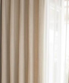 日本製有名メーカー ナチュラル色OUTLETカーテン・オーダーカーテン幅130センチ 防炎ウォッシャブル