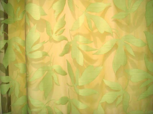 フジエテキスタイル【デザイナー・レースFA1608GN・グリーン】 フラット・オーダーカーテン