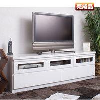 【送料無料】TVボード 艶ありホワイト 幅150 完成品AV収納【P10】【MK】