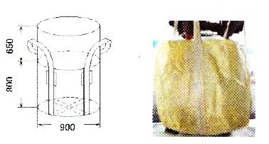 フレコンバック 丸型 5K#002 500kg 20枚入り φ900×H800mm 排出口無しタイプ 500kg/0.5t フレコンバッグ