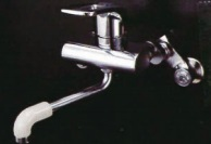 ミズタニバルブ リフォーム用シングルレバー水栓 MK300MGR 壁付混合水栓 キッチン用水栓金具