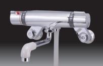 ミズタニバルブ サーモスタット式シャワー水栓 MB700BK 壁付混合水栓 バス用水栓金具