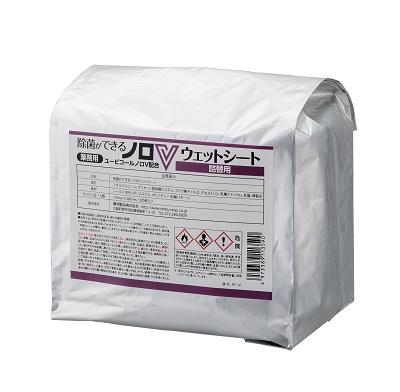 摂津製油 ユービコール 除菌ができるノロVウエットシート 詰め替え用 300枚×6個 ケース販売