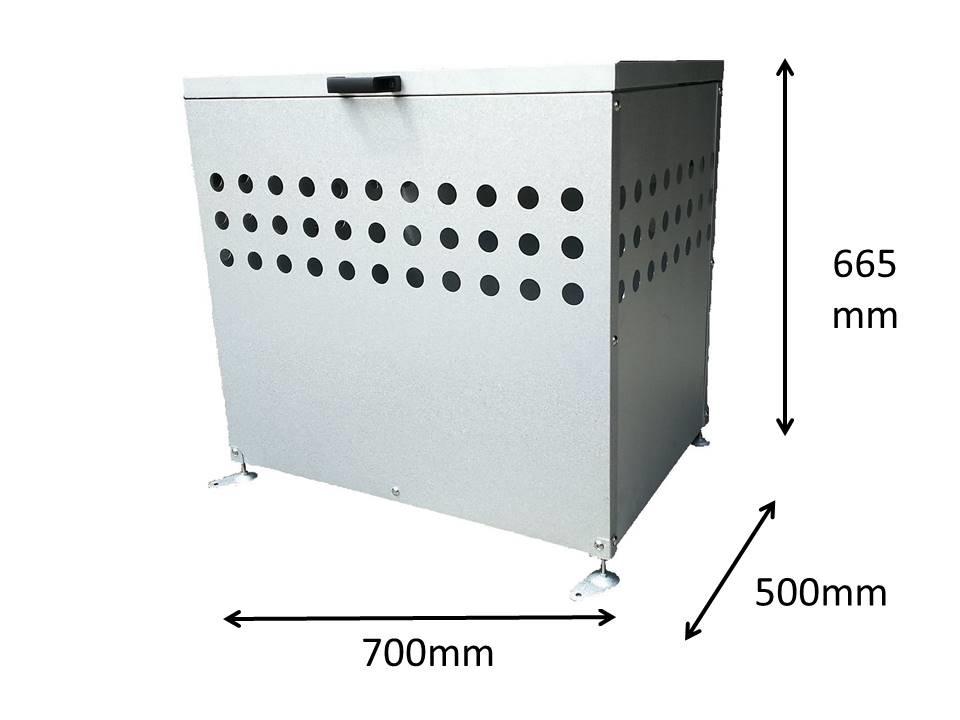 新登場 送料無料 ゴミ袋を収集まで保管しておく屋外用ゴミ容器です 屋外用大型ダストボックス DST700 公式 200L DST-700