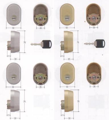MIWA URシリンダー GAE+FE 2個同一キー MCY-457 MCY-458【smtb-TK】