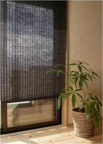 窓にさわやかな天然素材のロールアップスクリーン 麻ロールアップスクリーン 88cm×180cm ブラウン 信託 贈物 RH-536